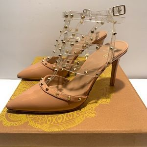 Mix no 6 brand new heels with rhinestone straps